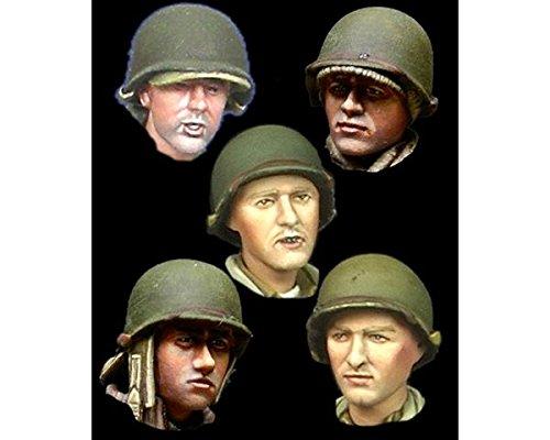 Alpine miniatures 1/35; set di teste per fanteria usa ww2