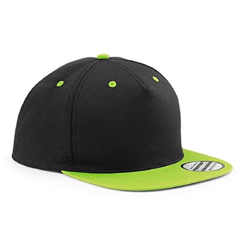 *Snapback Basecap Bestickt mit Motiv Krone | King & Queen in Verschiedenen Farben Stickerei Partner-Cap für Sie & Ihn (Lime Green)*