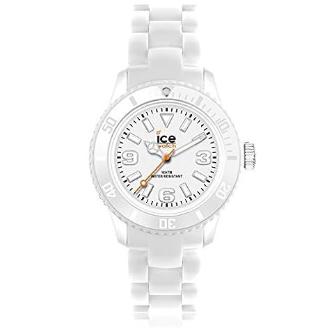 Ice-Watch - Solid - White - Small 1684 - Montre Quartz - Affichage Analogique - Bracelet Plastique Blanc et Cadran Blanc - Femmes
