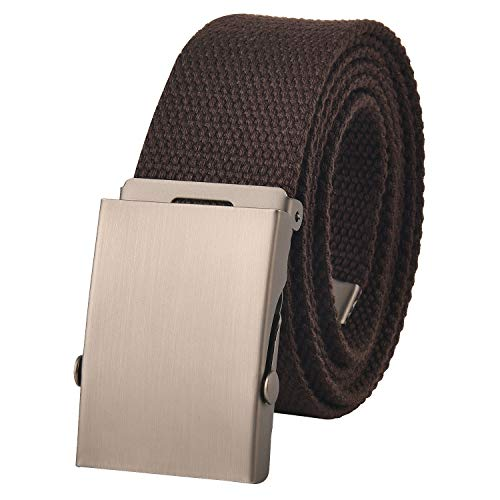 Unisex Metall (KEYNAT® Canvas Gürtel Herren mit Metall Gürtelschnalle Nickelfreier Taktischer Gurtel Outdoor Sportarten Unisex Webbing Belt with Nickel Free Buckle)