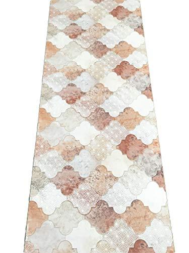 Lavelahome tappeto cucina a metraggio pvc largo 50 cm marmette cementine azulejo (star-arab)
