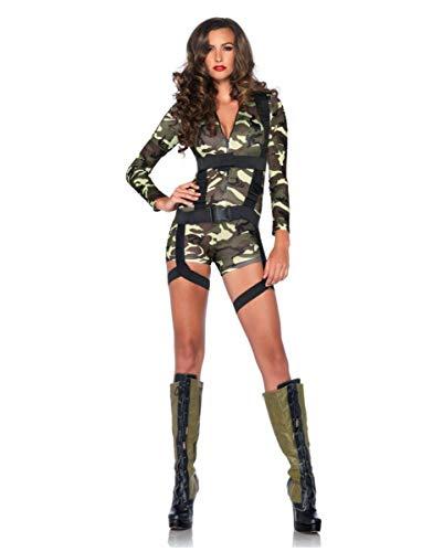 Horror-Shop Verführerisches Camouflage US Army Fallschirmjägerin Kostüm für Frauen L