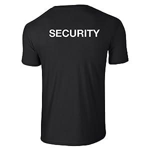 Security Black T-shirt - Bouncers, doorman, door staff, event staff, security guard, door supervisor,SIA