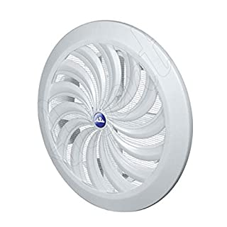Adjustable Circle Air Vent Grille Cover Hit&Miss 100 to 150mm Ducting White Ventilation Cover Controlled by String or Handle
