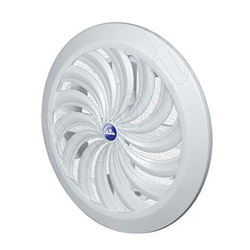 Awenta Grille d'aération/moustiquaire ronde en plastique ABS T88 Blanc Ø 100 à 150 mm