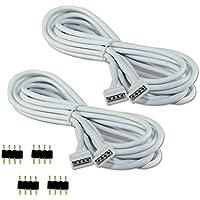COOLWEST 2er-Pack 2M Verlängerung Anschluss Kabel für LED RGB-Strip 4 pin, Verbinder, geeignet für LED RGB Leiste Streifen