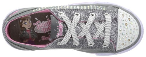 Skechers Shuffles Glamour Ties Mädchen Sneakers Grau (CCHP)