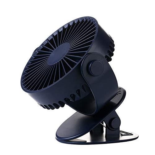 Mini-Lüfter, Handgebläse, 360 ° drehbar, freie Konfiguration, USB-Kühlung,Black -