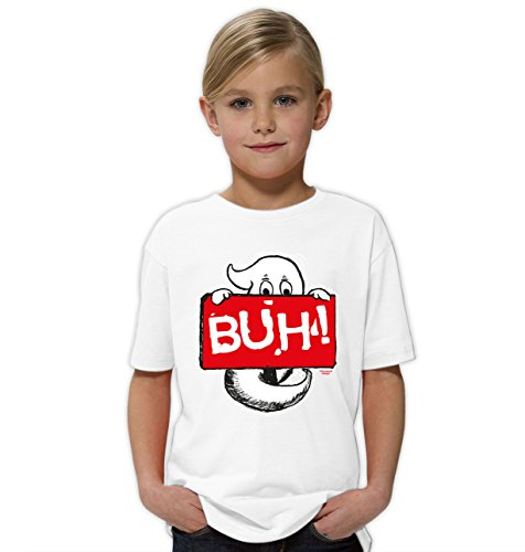 ges Halloween Kinder-Fun-Kostüm-T-Shirt Mädchen Teenager Party-Outfit-Bekleidung tolles Geschenk Farbe: weiss Gr: 152/164 (13 Geister-halloween-kostüme)