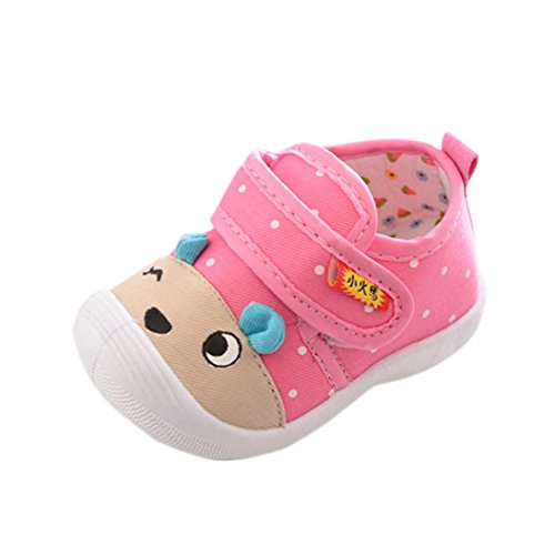 Kostüm Schuhe Cartoon - FNKDOR Baby Kinder Quietsche Schuhe Jungen Mädchen Cartoon Squeaky Quietschendes Krabbelschuhe(Länge: 12 cm,Rosa)
