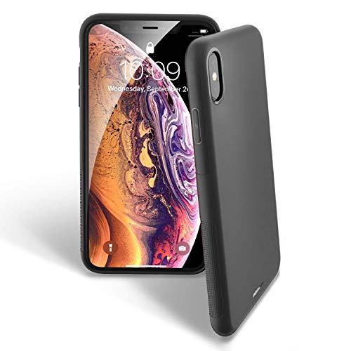 UNBREAKcable iPhone X/XS - Coque Souple en TPU Mat Ultra Fine et élégante pour iPhone X/XS 5,8' - Noir Mat