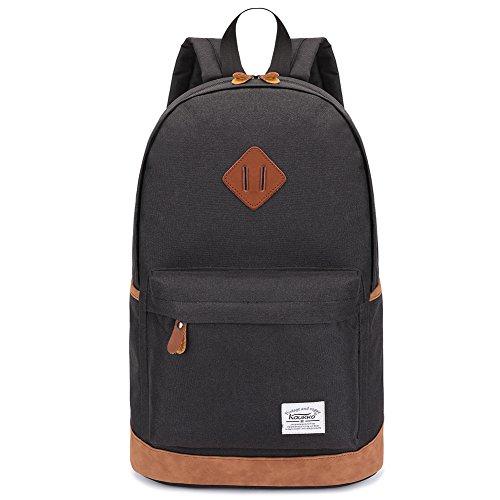 Zaino del computer portatile, zaino scolastico leggero kaukko borsa da viaggio casual daypack escursionistico multifunzionale di grande capacità per uomini e donne (nero-1)