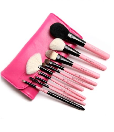 kit de 10 pinceaux à maquillage / ensembles des brosses cosmétiques / kit de beauté des pinceau de maquillage / pinceau poudre / cosmetic brushes (rose)