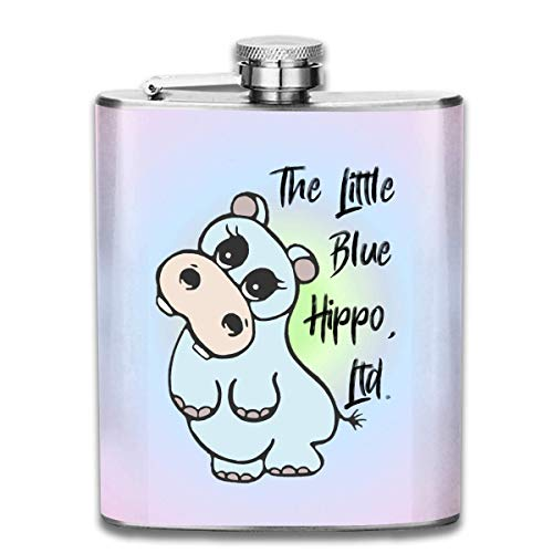 FGRYGF Little Hippo Fashion Portable Stainless Steel Hip Flask Whiskey Bottle for Men and Women 7 Oz -