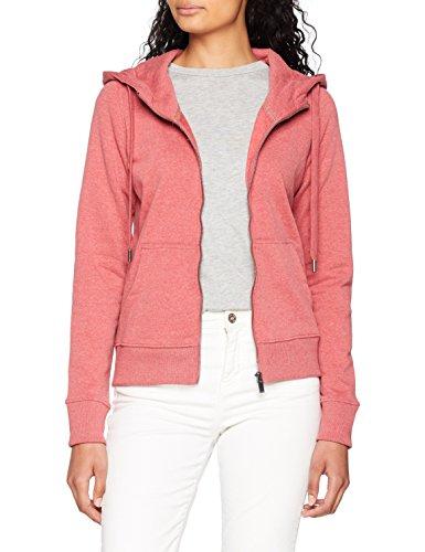 ONLY NOS Damen Sweatjacke Onlmarbella L/S Zip Hood Swt, Rosa (Baroque Rose Detail:W. Melange), 42 (Herstellergröße: XL) Rosa Zip