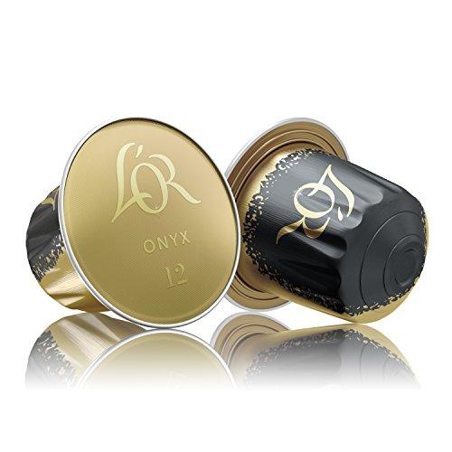 L'Or Capsule Caffè Espresso Onyx, Compatibili con Macchine Nespresso, 10 Capsule in Alluminio, Intensità12 3