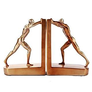 Buchstützen Goldene Harz Skulpturale Buchstütze Sets Arbeitszimmer Wohnzimmer Weinschrank Dekoration Ornamente Charakter Buchstütze Handwerk Geschenk Schreibtischzubehör & Ablage