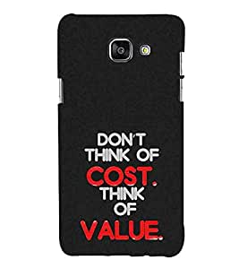HiFi Designer Phone Back Case Cover Samsung A9 Pro :: Samsung A9 Pro Duos :: SamsungA9 Pro :: Samsung A9Pro ( Don't Think of Cost Think Of Value Quote Funky )