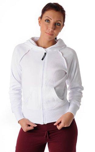 PAPILLON veste avec capuchon veste de survêtement décontractée sport blanc