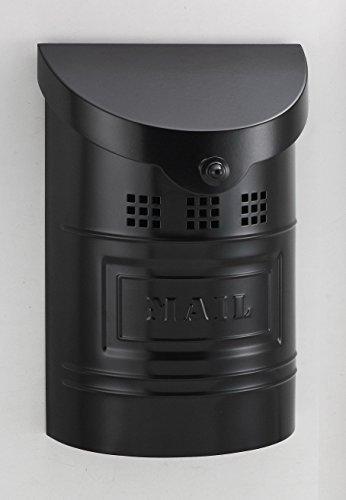 Ecco E1 Mailbox E1BK - Satin Black Finish - Small Size - Wall Mount Mailbox - Ecco Satin