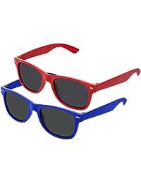 Nerd Clear Lunettes de soleil style Wayfarer rétro vintage Unisexe Lunettes–Boolavard® TM - Multicolore -
