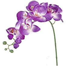 SROVFIDY 1 pieza de flor de orquídea mariposa artificial Inicio / decoración de ramo (Light purple)