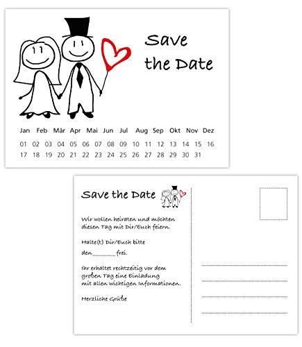 Postkarten Save the Date Karten | Hochzeit, Wedding, Hochzeitsleinladungen | Terminplanung Hochzeitsfeier (35 Karten Brautpaar) (Save Date Hochzeit The)