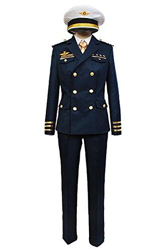 Uta Kostüm No Cosplay Prince Sama - Uta no Prince-sama Shining Airlines First Offizier Uniform Cosplay Kostüm Herren S