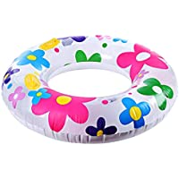 Shuzhen,Tubo Inflable de la natación del Anillo de la Nadada del patrón de Flor de la Moda para los Amantes de la Nadada(Color:Vistoso)