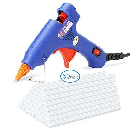 50-piezas-Mini-Pistola-de-Silicona-TOQIBO-Pistola-de-Pegamento-con-50-piezas-Barras-de-pegamento-Alta-temperatura-kit-de-pistola-de-pegamento-con-Interruptor-de-Alimentacin20-vatios-azul