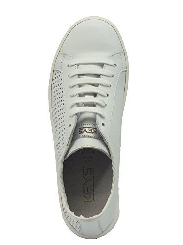 Keys sneaker da donna in pellle bianca Bianco