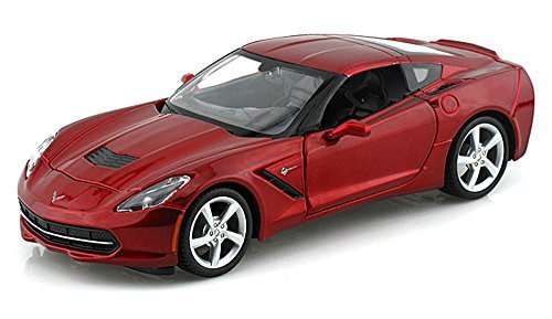 Chevy Corvette Stingray Coupe, Red - Maisto 31505 - 1/24 Scale Diecast Model Toy Car by Maisto