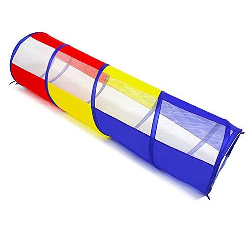 Tunel infantil plegable para niños 180cm (longitud) x 46cm (Diámetro), uso exterior e interior 3