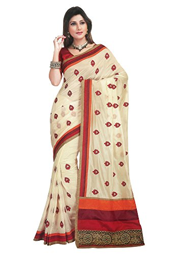 Chirag Sarees Silk Saree (Rr35430_White)