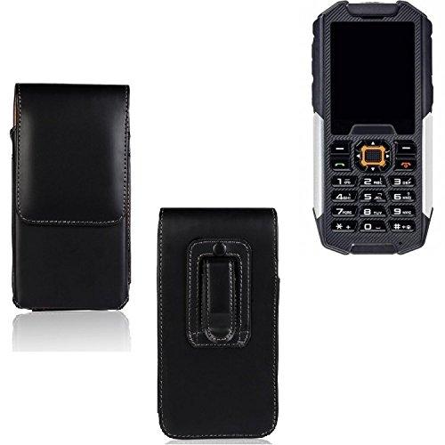 Für Cyrus cm 7 Gürtel Tasche Gürteltasche Schutzhülle Handy Tasche Schutz Hülle Handytasche Smartphone Case Seitentasche Vertikaltasche Etui Belt Bag schwarz für Cyrus cm 7 - K-S-Tr