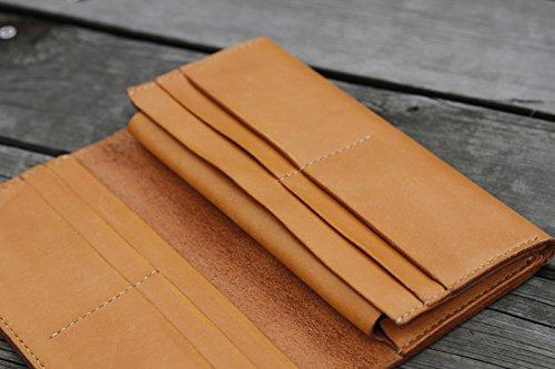 Handmade original Design, große Kapazität lange Brieftasche, Geschenk, Tasche, Gelb Braun Yellow brown