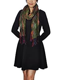 Women Ladies Long Chunky Bubble Scarf Fashion Lovely Women Scarves (Mixed Green)