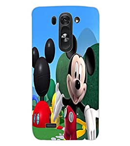 ColourCraft Lovely Cartoon Character Design Back Case Cover for LG G3 BEAT