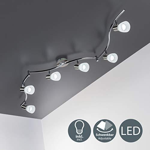 LED Deckenleuchte I 6-flammig I drehbar I schwenkbar I inkl. 6x 5 W LED Leuchtmittel l Decken-Lampe I E14 I IP20
