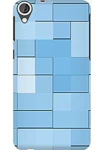 AMEZ designer printed 3d premium high quality back case cover for HTC Desire 820 (tiles)