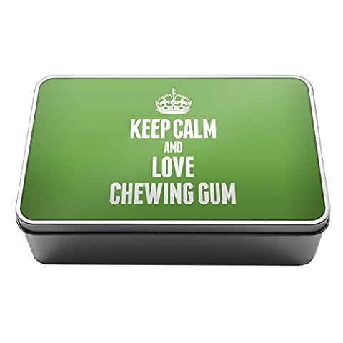 Vert Keep Calm and Love Chewing Gum Boîte de rangement