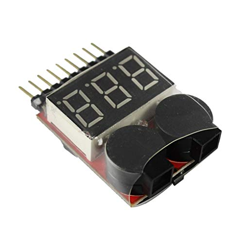 Kineca 1-8S Lipo/Li-Ion/Fe-Batterie-Tester Spannungsprüfer 2 in 1 Detektor Low Voltage-Summer-Warnung Low-voltage-audio