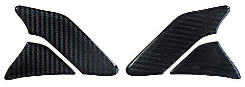Seitentank-Pad 3D 800142 Carbon Schwarz - Hightech-Folie mit sichtbarer Struktur - universeller Tank-Schutz passend für Motorrad-Tanks