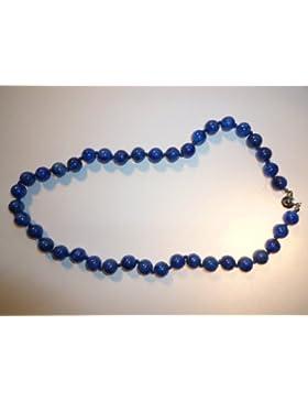 Wunderschöne Edelstein Halskette aus Lapislazuli D8 mm, Kugelkette
