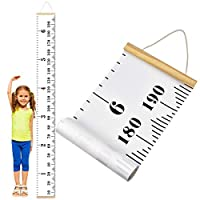 Dokpav Wall Height Chart, Baby Growth Chart, Canvas Height Chart, Nursery Height Chart for Kids, Removable Wooden Frame Wall Hanging Measurement Rulers for Wall Decorations,7.9