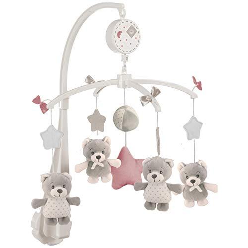 #11 Musikmobile mit niedlichen Bären zum Aufziehen - Baby Mobile Spieluhr Babybett Musik Laufgitter Babyzimmer Kinderbett