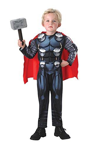 Deluxe Thor + Hammer Jungen Fancy Kleid THE AVENGERS Superheld Kinder Kinder Kostüm (Avengers Kostüm Für Kinder)
