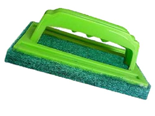 GEN-X_Sponge Brush Floor Tile Scrubber Polisher Cleaning Brush Set thick sponge wipe clean brush kitchen ceramic tile cleaning Magic Eraser bath floor glass brush, Color Green  available at amazon for Rs.165