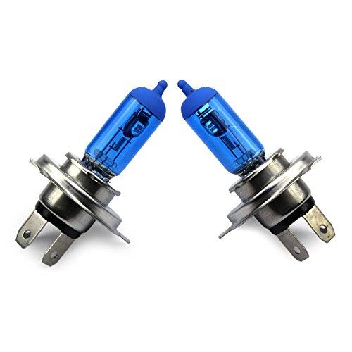 Preisvergleich Produktbild Jurmann Trade GmbH® H4 Xenon Style Lampen / Halogen Birne mit 100W,  Xenon Look,  vorne / hinten,  als Fernlicht / Abblendlicht / Nebelscheinwerfer verwendbar! Werkstattware