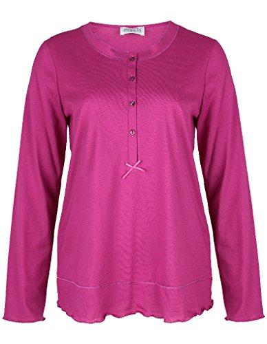 Rösch 1884024, Haut de Pyjama Femme, Anthracite, 52 Rouge